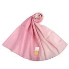 Sybilla拼色抗UV純綿薄圍巾(粉紅色)989401-E