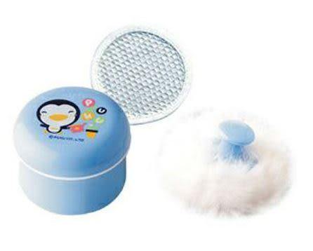 PUKU 藍色企鵝 粉撲盒+兔毛粉撲