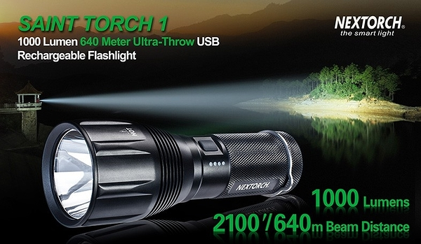 NEXTORCH SAINT TORCH 1 納麗德 聖火1 1000流明 640米 專業長距遠射手電筒 露營燈 照明燈 快速充電型