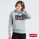 Levis 女款 重磅帽T / Sportwear Logo / 灰