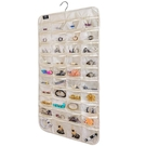 [2美國直購] BB Brotrade 首飾盒 HJO80 Hanging Jewelry Organizer,80 Pocket Organizer for Holding Jewelries(Beige)