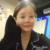 太陽眼鏡圓形大框眼鏡女金色文藝大圓框平光鏡眼鏡架 果果輕時尚 果果輕時尚