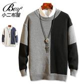 毛衣 韓版拼接撞色粗針織衫【NQ96911】