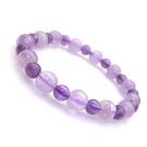 紫玉與紫晶圓珠彈性手環