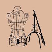 歐式鐵藝女裝模特架女道具婚紗拍攝服裝架全身半身女掛衣架展示架 晶彩生活