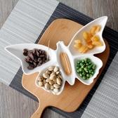 盤子拼盤創意陶瓷盤子異形酒店餐盤個性蝴蝶菜飯盤水果盤家用餐具    交換禮物