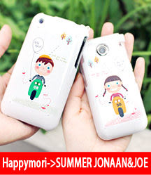 【韓國原裝 Happymori】※We'll meet you right now※ 前殼+背殼保護殼適用iphone4s/4 Galaxy S2 i9100