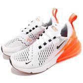 Nike 慢跑鞋 Wmns Air Max 270 白 橘 大氣墊 大型後跟氣墊 舒適緩震 運動鞋 女鞋【PUMP306】 AH6789-104