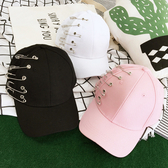 棒球帽 素色 別針 嘻哈 遮陽 潮 壓舌帽 棒球帽【CF017】 BOBI  08/03