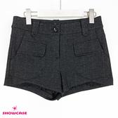 【SHOWCASE】時尚厚磅蕾絲襬保暖俏麗短褲(黑)