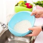 廚房淘米器炫彩加厚洗米籃 洗菜籃 瀝水籃(小)-艾發現