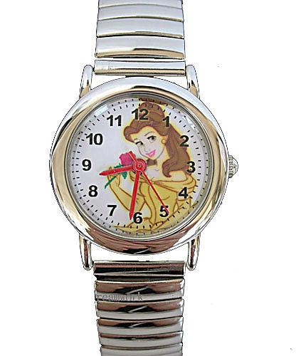 【卡漫城】貝兒 Belle 不鏽鋼 伸縮 錶帶 手錶 ㊣版 美女與野獸 卡通錶 女錶