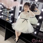 洋裝 女童夢幻網紗公主裙2019春季新款兒童超洋氣仙美蕾絲裙女孩蓬蓬裙