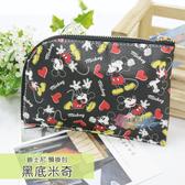 ☆小時候創意屋☆ 迪士尼 黑底米奇 頸掛包 手機包 卡片包 零錢包 證件包 收納包 悠遊卡包 短夾