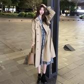 風衣女中長款年韓版新款赫本風設計感氣質百搭寬鬆小個子外套 雙十一全館免運