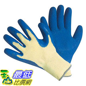 [美國直購 shop USA] CUT RESISTANT GLOVES-100% KEVLAR, Heavy Weight Textured Blue Latex Coated,large, (1 pair) $649
