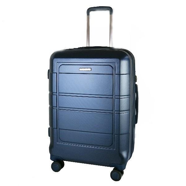 ALAIN DELON亞蘭德倫 (驚爆價6折) 奢華金屬流線系列 可擴充設計 行李箱/旅行箱-24吋 寶藍