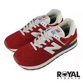 New balance 574 紅色 麂皮 休閒運動鞋 男女款NO.B1824【新竹皇家 ML574HA2】