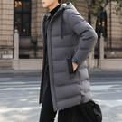 冬季男士外套 韓版外套羽絨外套 男士棉衣潮流棉服 夾克外套加絨羽絨服 中長款加厚男生外套