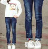 新款秋裝寬鬆韓版女童褲子女大童秋洋氣中童裝潮兒童牛仔褲 QG7265『優童屋』