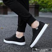 2018新款帆布鞋男鞋子韓版潮流男士百搭老北京板鞋學生夏季布鞋『韓女王』