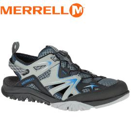 【MERRELL 美國 男款 CAPRA RAPID SIEVE 水陸兩棲鞋〈淺灰/黑〉】ML37681/休閒鞋/登山鞋/運動鞋