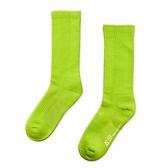 WARX除臭襪 經典素色高筒襪-螢光綠