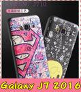 【萌萌噠】三星 Galaxy J7 2016版 J710 蠶絲紋彩繪保護套 卡通塗鴉 輕薄簡約款 矽膠套 手機套 手機殼