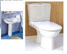 【 麗室衛浴】法國原裝JACOB-ODEAN 1401面盆(含長腳柱)+JACOB-ODEAN E1032      雙體馬桶  樣品出清特賣