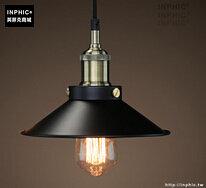 INPHIC- 工業風格復古吊燈美式創意咖啡館酒吧吧台鍋蓋鳥籠單頭吊燈-A款_S197C