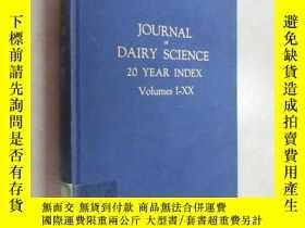 二手書博民逛書店外文書罕見JOURNAL OF DAIRY SCIENCE 20