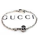 【奢華時尚】GUUCI 925純銀-雙G雕花鑰匙墜飾項女用手鍊