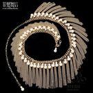 肚皮舞腰鍊新品仿珍珠金屬鉆鍊腰帶表演出流...