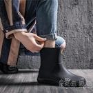 雨鞋男中筒防滑防水套鞋水鞋加厚時尚耐磨釣魚膠鞋短筒外賣雨靴 小時光生活館