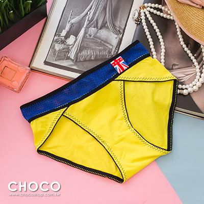 Choco Shop-法老舞姬‧棉質彈力網紗透氣內褲(黃色) Free Size