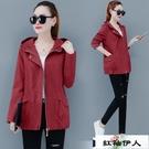 2020春秋季新款時尚中長款風衣女韓版寬鬆顯瘦百搭薄款小個子夾克外套潮『紅袖伊人』