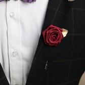 新款潮流飾品西裝玫瑰花胸花胸針男女 全館免運