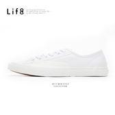 Casual 帆布 復古加硫休閒鞋-白色【09778】