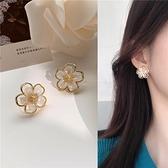 S925銀針 韓國ins小眾氣質簡約花朵耳環復古超仙少女耳釘耳夾H697 伊蘿 618狂歡