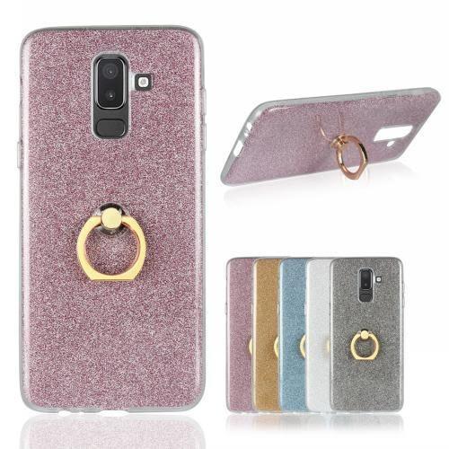 【SZ14】三星J8 2018 手機殼 閃粉TPU軟殼指環二合一 J8 2018保護套