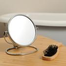 【週年慶開跑全館8折起】折疊式鍍鉻雙面桌鏡-生活工場