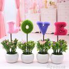 仿真植物小盆栽創意家居擺設客廳書桌電視柜迷你裝飾假花擺件YYJ  夢想生活家