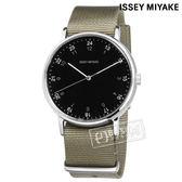 ISSEY MIYAKE 三宅一生 / VJ21-0360U.NYAJ004Y /  F系列 極致完美 數字時標 日本製造 尼龍手錶 黑x灰綠 39mm