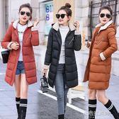 冬天新款反季棉衣女中長款學生寬鬆棉襖大碼韓版羽絨棉服外套『小宅妮時尚』