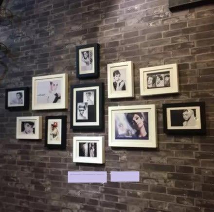[協貿國際]   組合畫壁飾咖啡廳牆面裝飾畫帶框畫  (1入)
