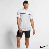 Nike Golf Dri-FIT Vapor Tiger Woods 男條紋高爾夫POLO衫上衣 白 BV1321-100