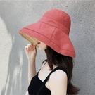漂亮小媽咪 韓系漁夫帽【BW2861】 雙色帽 遮陽帽 女性 成人 防曬 漁夫帽 大帽檐 盆帽