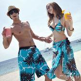 藍色海洋椰樹 鋼圈泳裝 比基尼 泳衣 (沙龍可加價購)   橘魔法 magic G 現貨