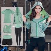 瑜伽服套裝 女新款健身衣寬鬆性感運動服大碼長袖跑步健身房潮 - 歐美韓熱銷