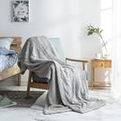 【贈蓋毯靠枕2件組-紫】輕柔絮暖雙面毯150*200-空氣灰